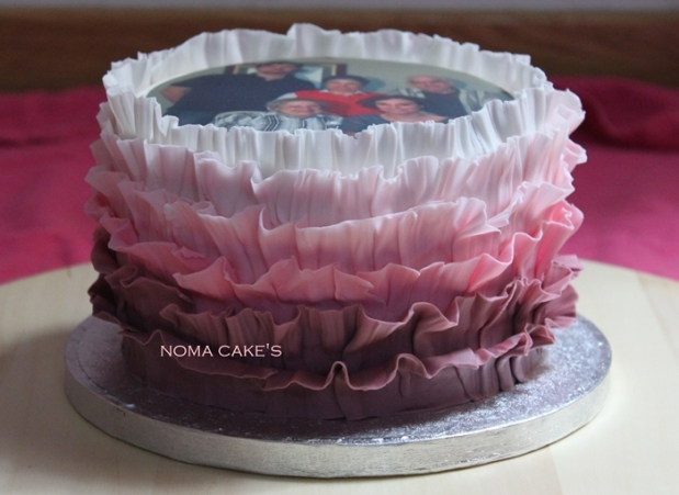 ruffle cake papel de azucar