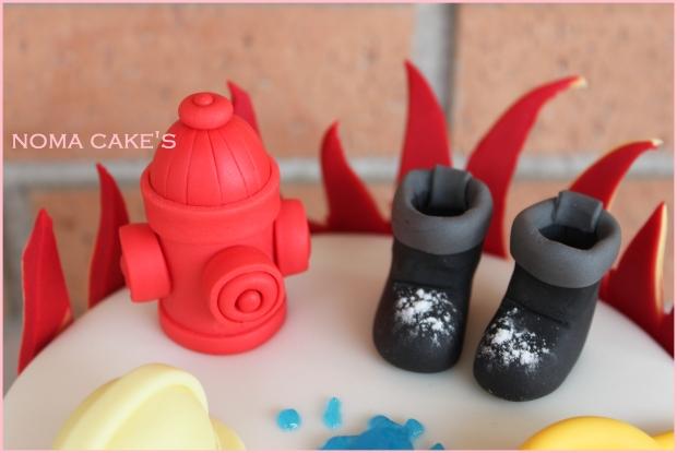 tarta bomberos cake