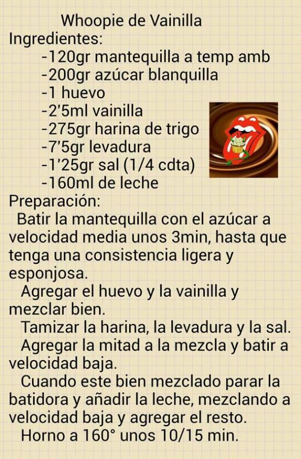 whoppie pies receta chocolate vainilla