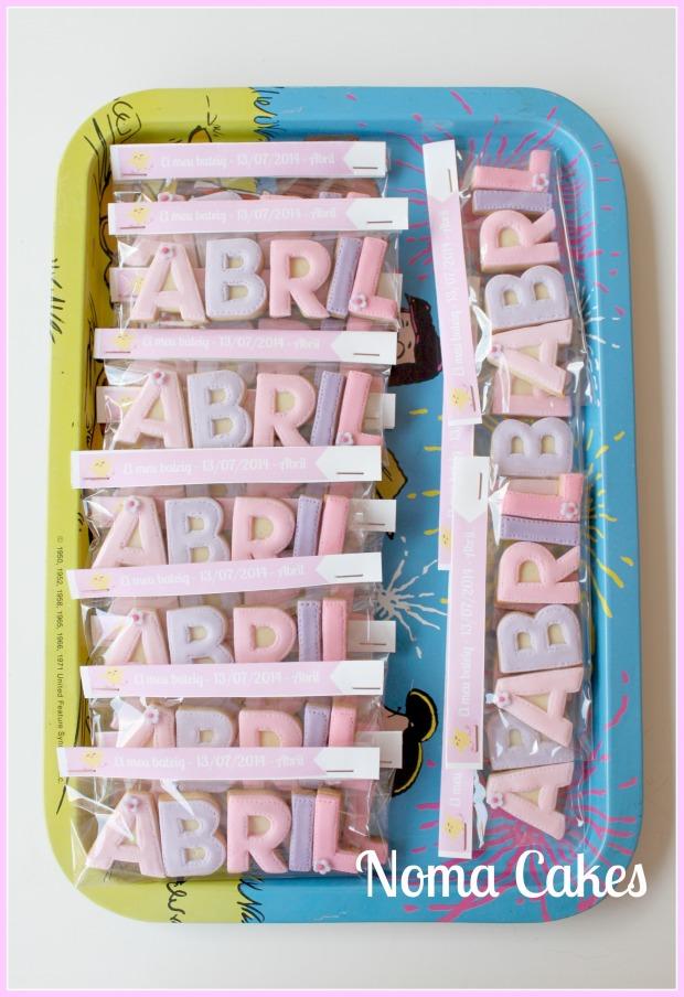 galletas letras bautizo nombre