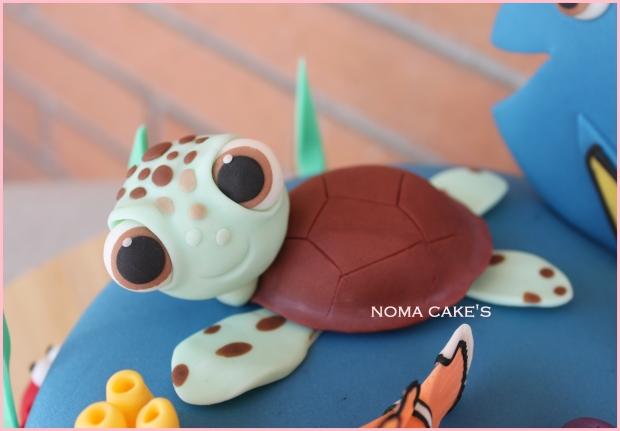 tarta cake buscando a nemo finding dori tortuga turtle mud cake
