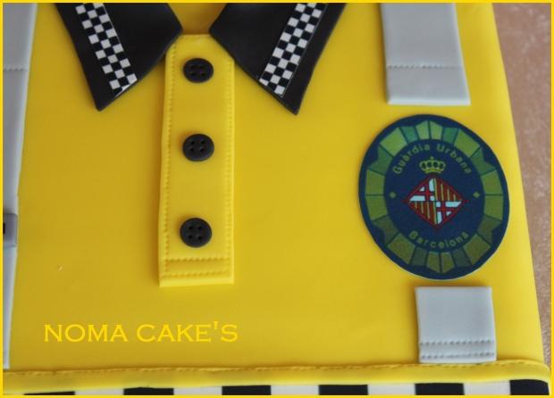 tarta guardia urbano barcelona