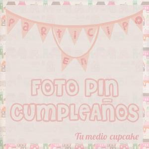 Foto pin cumpleaños
