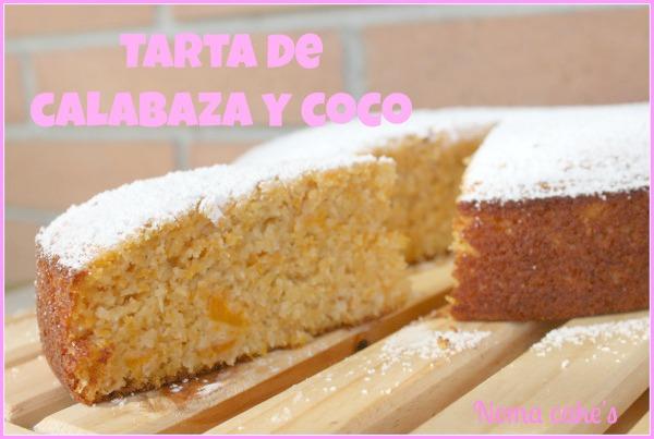 bizcocho tarta calabaza coco