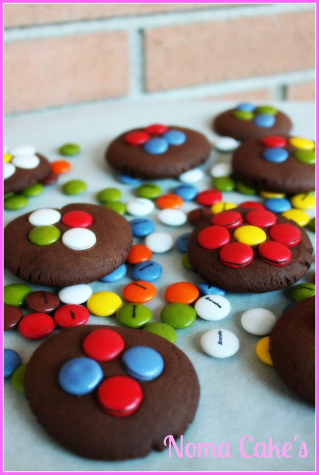 galletas de chocolate con lacasitos