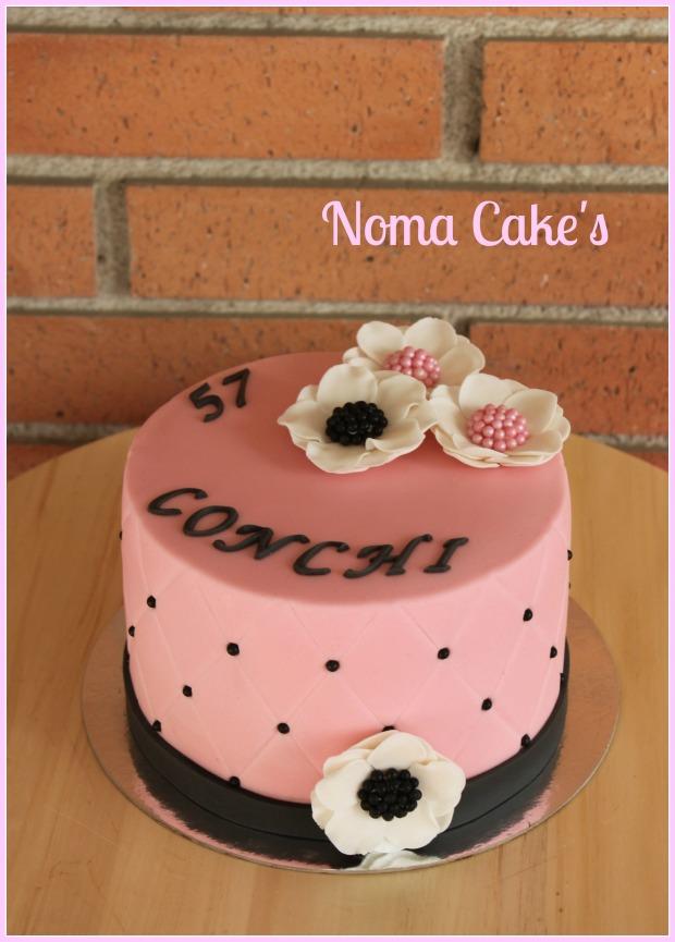 tarta acolchada flores perlas