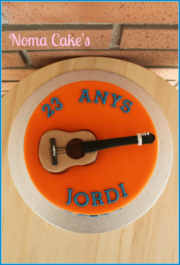 tarta rastas diseño grafico guitarra esplai