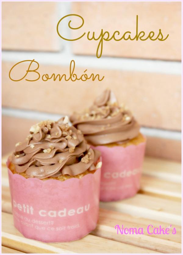 cupcakes bombon chocolate con leche ganache