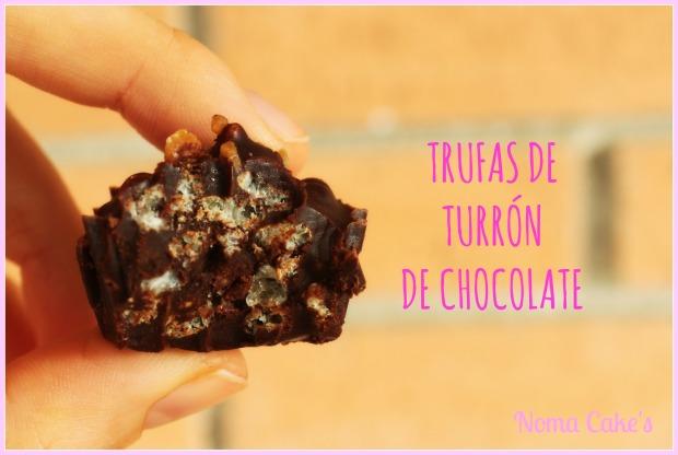 trufas turrón chocolate