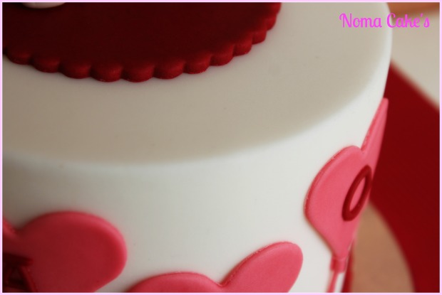 tarta cake san valenti love bunnies