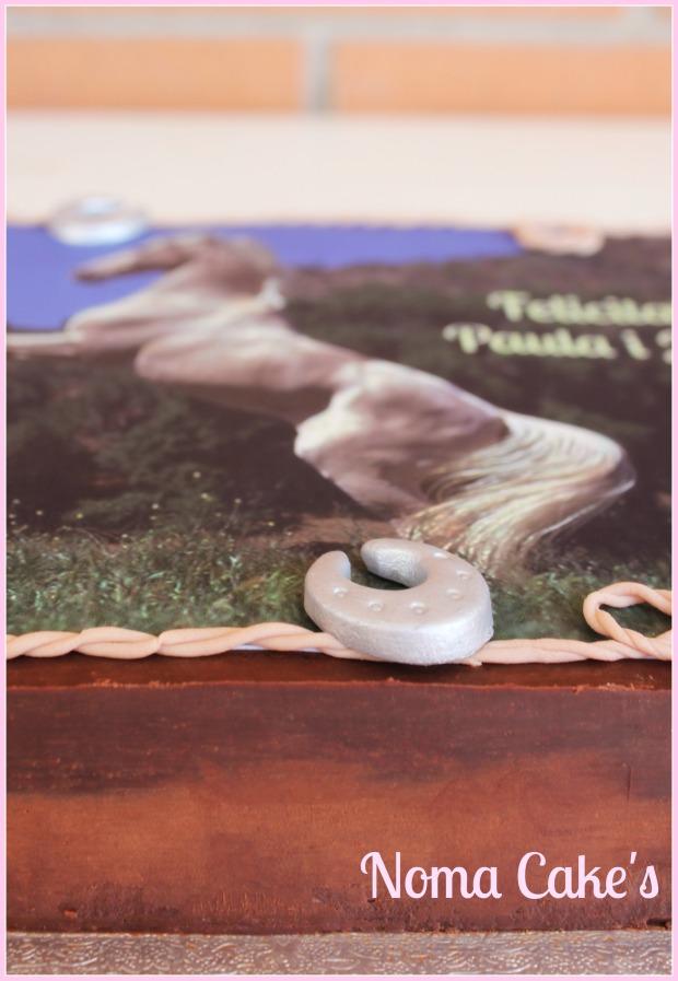 tarta caballo papel azucar