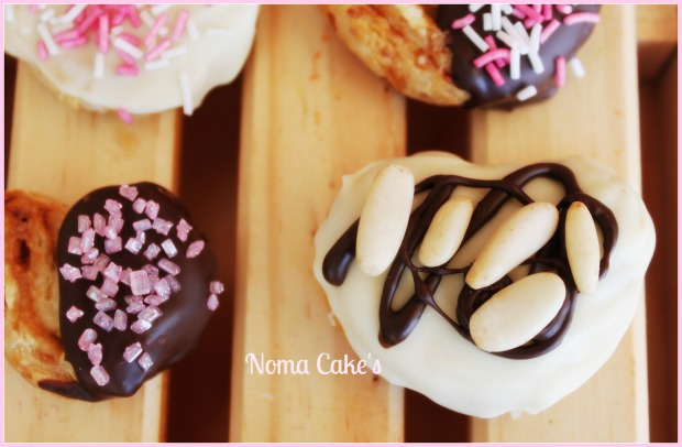 mini palmeras decoradas chocolate