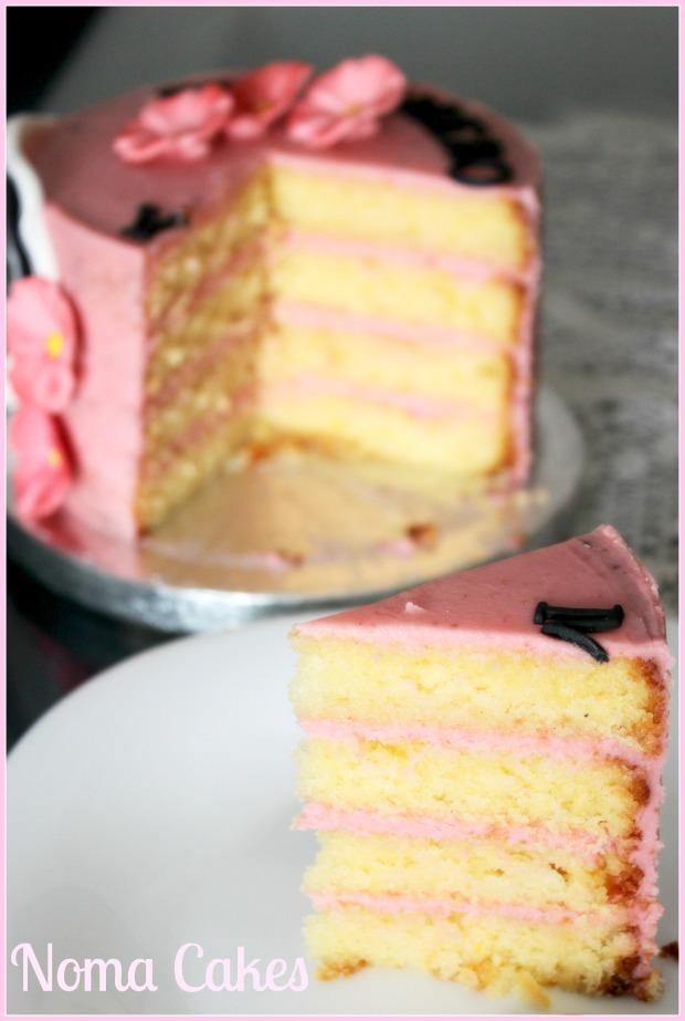 tarta dia de la madre limon ganache chocolate blanco frambuesa
