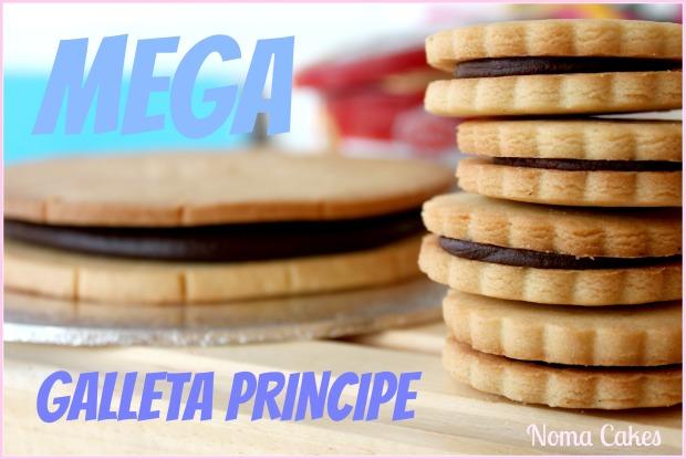 mega galleta principe rellena chocolate crema de cacao
