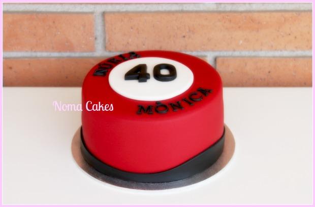 tarta prohibido 40 señal