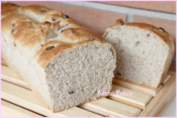 pan de molde nueces pasas pistachios