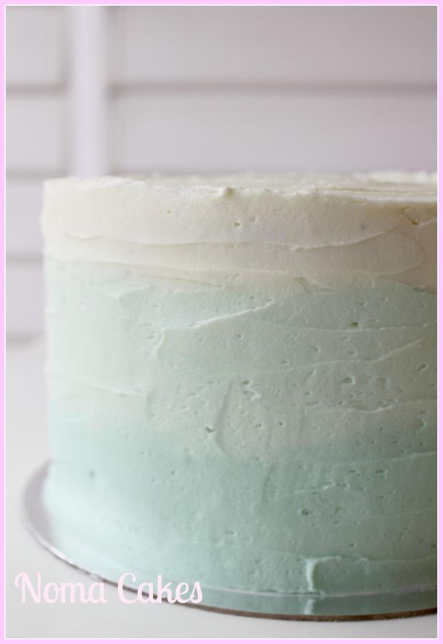 tarta degradada buttercream
