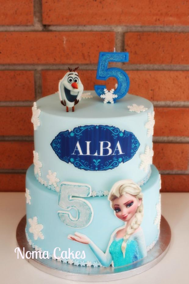 tarta cake elsa frozen