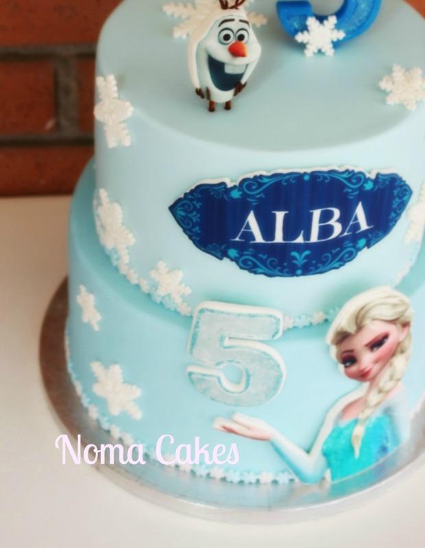 tarta frozen cake elsa