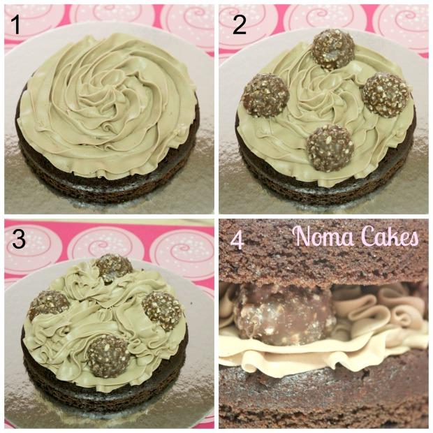 tarta ferrero chocolate