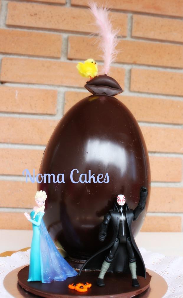 Mona de Pascua estructura de chocolate