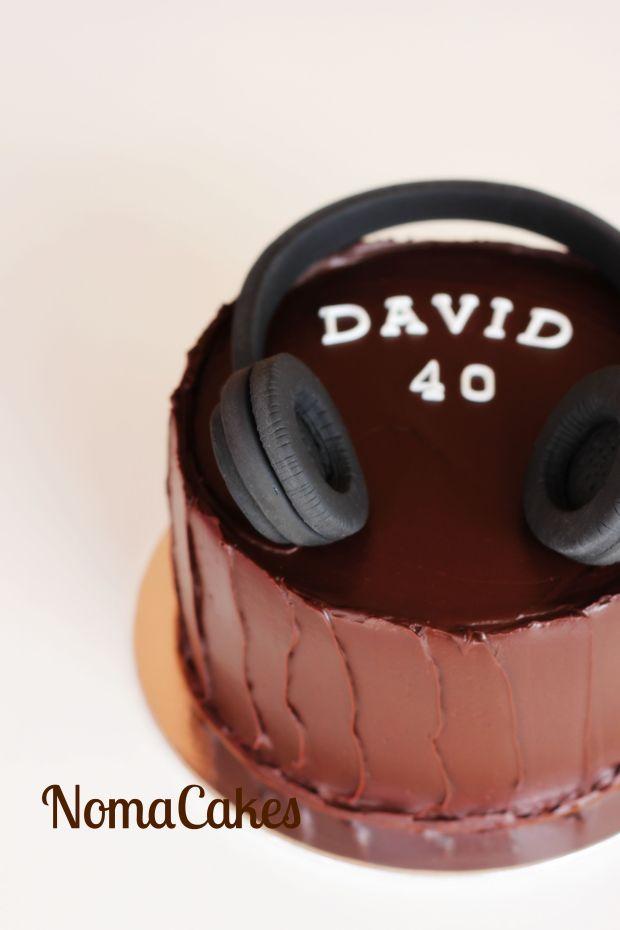 tarta auriculares cascos headfones cake