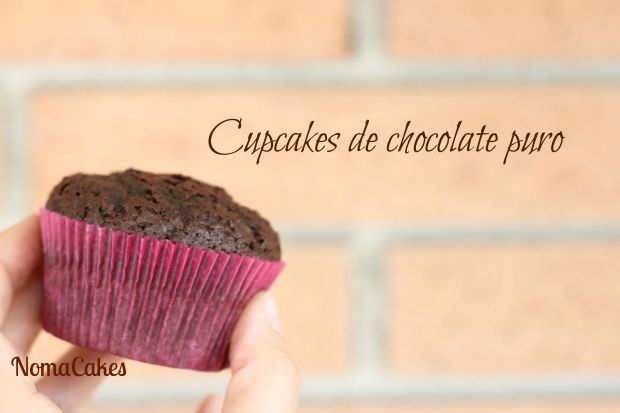 cupcakes de chocolate puro