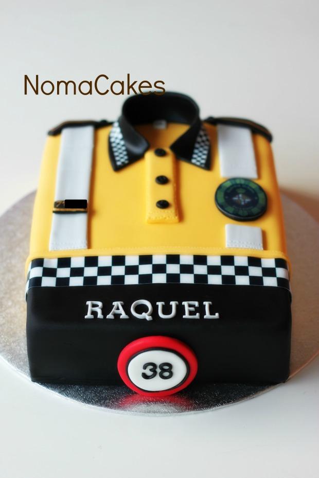 tarta guardia urbana barcelona urbano cake polo camiseta