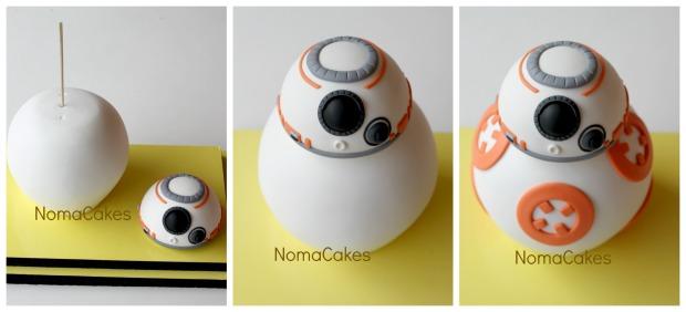 tarta BB8 StarWars cake