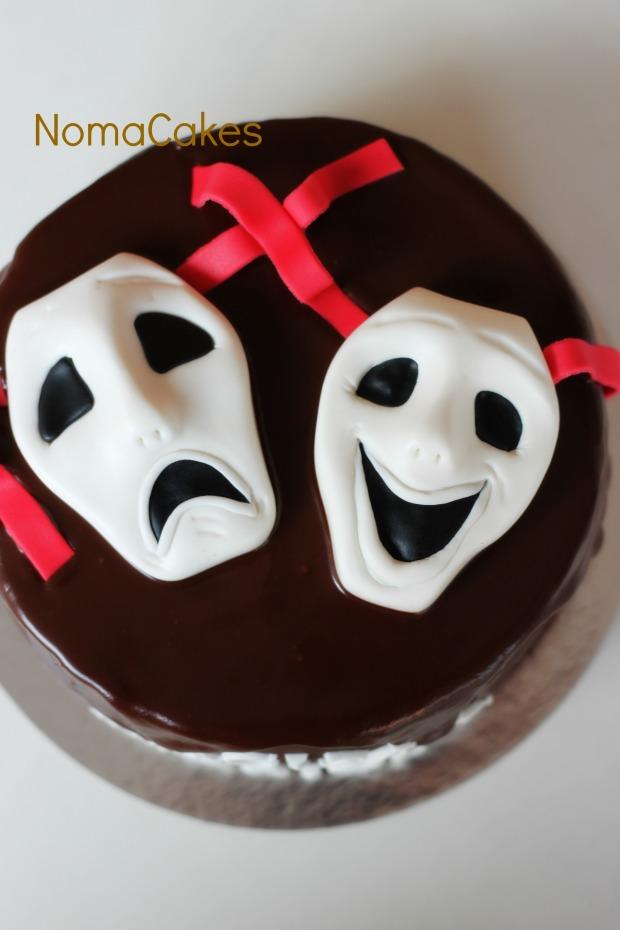 tarta máscaras teatro