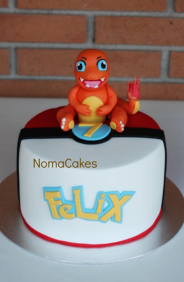 tarta pokemon charmander cake