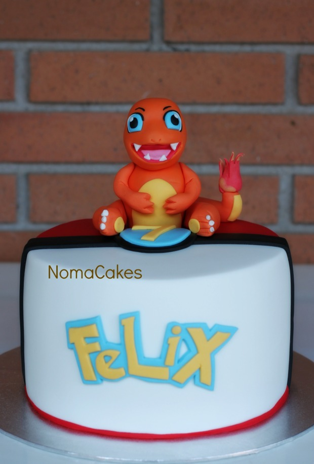 tarta pokemon charmander cake