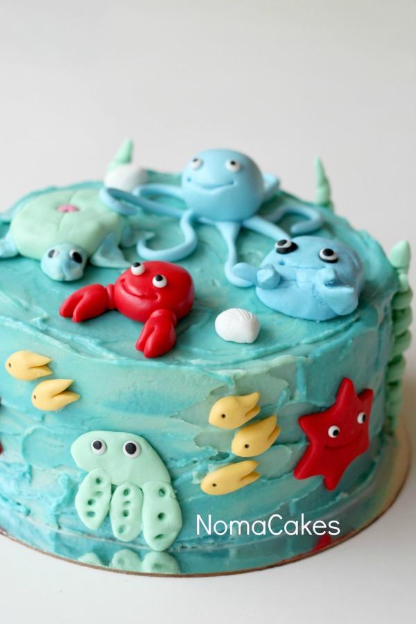 tarta marina tarta peces